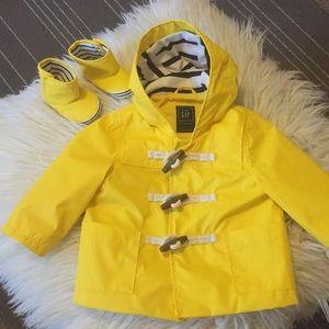 GAP Baby Raincoat and Booties Bundle